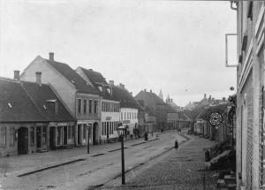 Ø1032, Kordilgade set fra Øen, ca 1890